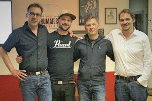 Nach getaner Arbeit: Frank, Hendrik Lensing, Patrick Metzger, Michael Mertens. - Photo: Jörg  Schreinemackers